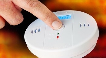 Carbon Monoxide Awareness Week 2020 is designed to raise awareness of the dangers of CO and highlight measures that can be taken to prevent it, the image shows test of a CO alarm