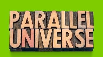 Text Parallel Universe represents the changes the digital world has experiences and the introduction of the GDPR